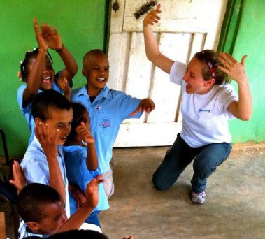 Maghan Knight (FIMRC President, 2012-13) Alele Tiki Tongin' it up in the Dominican Republic, Spring Break 2013